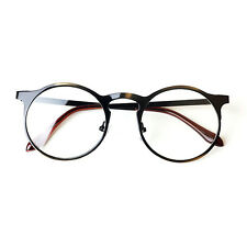 Nerd Brille filigran rund Glasses Klarglas Hornbrille treber 13R0 Antique gold