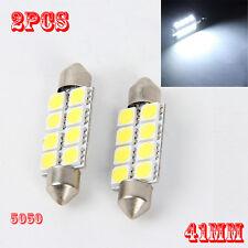 2PCS 5050 41mm 8SMD Car Interior Dome Festoon LED Light Bulbs Lamp White 12V
