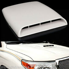 Auto Car Decorative Air Flow Intake Scoop Turbo Bonnet Vent Hood Cover White New