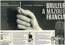 Publicité Advertising 1962 (2 pages) Le Bruleur à mazout Francia