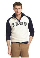 NWT Izod Big & Tall  1/4 Zip Pull Over Fleece Sweatshirt Navy/Ivor 4XL $68.msrp