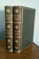 The Old Curiosity Shop Charles Dickens Antique Leather Late 1800's 2 Vol Lot