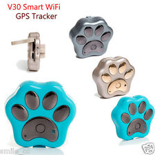 Smart WiFi Pet GPS Tracker Remote Wireless Finder Dog Cat Collar Locator SCA Hot
