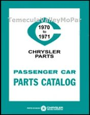 Factory MoPar Parts Manual for 1970-1971 Plymouth - Dodge - Chrysler - Imperial