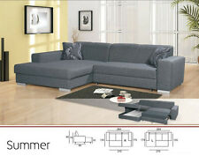 Summer corner sofa bed, faux leather,fabric, left or right hand corner