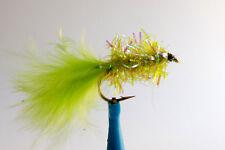 1 x Mouche de peche Streamer Blob Chartreuse H8/10/12 mosca fly tying truite