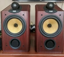 B&W CDM 1NT Speakers In Red Cherry With Consecutive Serial Numbers