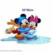 Disney Mickey & Minnie Mouse Skate Wall Sticker Home Decor Mural Art GIANT 33""
