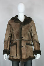 Gino leathers shearling coat jacket 38 sheepskin mint brown sherpa marlboro man