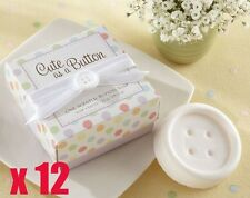 12 x Cute As A Button Scented  Soap- Baby Christening / Baby Shower Party Gift