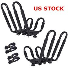 Set of 2 Kayak Rack Boat SUV Canoe Surf Ski Snowboard Roof Mount Car Cross J-Bar