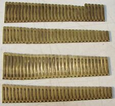 122 Brass Reeds from Boudoir Pump Organ Antique Used Parts Crafts Repurpose