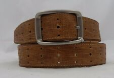 New Brighton Calfskin INLAY PERFORATED Leather Belt  Size 40  NWT  M70724