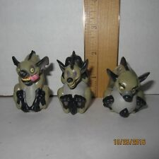 "Ed Shenzi & Banzai The Lion King 2"" PVC Figures Disney RARE Hyena Lot of 3"