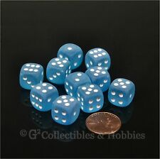 NEW 10 Frosted Caribbean Blue 12mm D6 Set Six Sided RPG MTG Game Dice Chessex