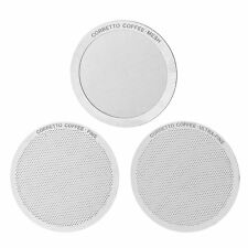 3 Pro Stainless Steel AeroPress Filters by Corretto Coffee - Fine,Ultra-Fine NEW