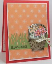 Stampin Up BASKET BUNCH Photopolymer Stamps/BASKET BUILDER Framelits
