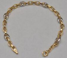 14k Solid Gold Fancy Link Bracelet 8.25 Inches