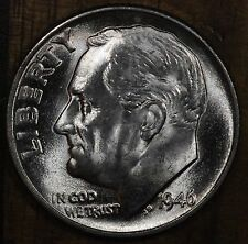 1946 P Roosevelt Dime Ch Bu Luster! 90% Silver Us Coin