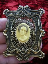 (CA1-7) RARE African American LADY ivory pine resin CAMEO Pin Pendant JEWELRY
