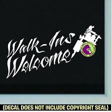 TATTOO WALK-INS WELCOME Shop Ink Machine Window Door Sign Vinyl Decal Sticker