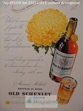 OLD SCHENLEY Straight Whiskey ad from Esquire 1940