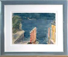 Otto DILL (1884 Neustadt-1957): Uferterasse am Lago Maggiore, Aquarell, um 1935