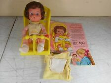 VTG Baby Michelle Baby Girl Doll by Kellogg with Carrier, Blanket, & Bottle