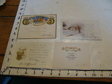 vintage used old cards: 4 used 1920's or so NEW YEARS POST CARDS