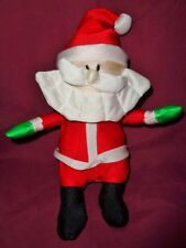 "Santa polyester stretchy satin like material 9"" VTG stuffed with foam beads"