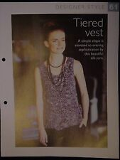 Tiered Vest Pattern The Art of Crochet Magazine
