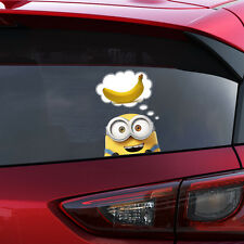 Despicable ME MINION BOB PEEKING BANANA Decal Window Sticker Car Bumper Gift