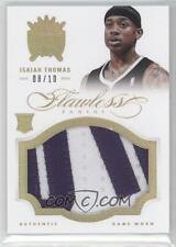 2012-13 Panini Flawless Isaiah Thomas Rookie Patches RC Gold 8/10 ALL STAR