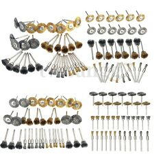 36Pcs Copper Brass Steel Wire Brush Polishing Wheels Full kit Dor Rotary Tool US