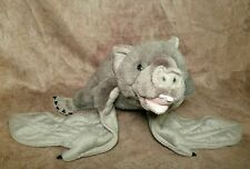 "Plush Vampire fox Bat Wild Republic stuffed animal Halloween prop big 27"" wngspn"