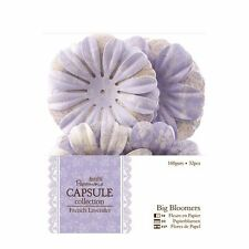 DOCRAFTS PAPERMANIA FRENCH LAVENDER COLLECTION BIG BLOOMERS FOR CRAFTS