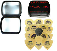 17 Dunlop Ultex Guitar Picks - Standard, Sharp, Jazz & Tri - In A Handy Pick Tin