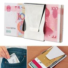 Mens Stainless Steel Double Sided Money Cash Note Thin Holder Clip Gift Wallet