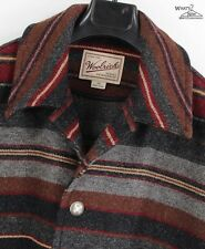 Woolrich Multicolored Stripe Wool Blend Blanket Coat Jacket Sz. XL **MINT**