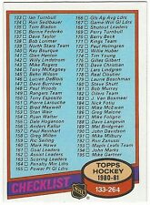 1980-81 TOPPS HOCKEY #257 CHECKLIST 133-264 - EXCELLENT