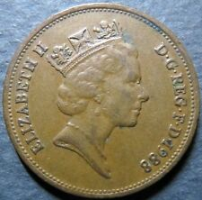*UK/GREAT BRITAIN, Vintage 1988  TWO PENCE COIN, Queen E II Obverse Nice Details