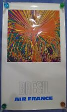 1971 Bresil (Brazil) Air France - Vintage Travel Poster - affiche aeronautique