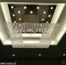crystal big square chandelier light stair Ceiling Curtain Pendant 150x150x100