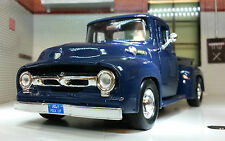 G LGB 1:24 Scala Ford F100 Pick-up Ute Van 1956 Camion Modellino Blu 73235