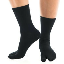 1 Pair - V-Toe Flip Flop Tabi Socks - Black Solid