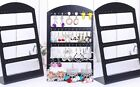48 Holes Black Plastic Earrings Display Show Jewelry Rack Stand Organizer Holder