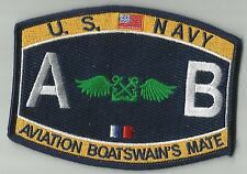 US Navy Aviation Boatswain's Mate Rating MOS Ratings Military Patch - AB