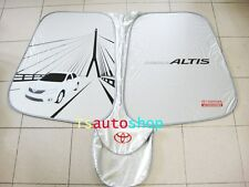 FRONT SIDE MIRROR SUN SHADE NYLON SILVER GENUINE TOYOTA COROLLA ALTIS 2008-2013