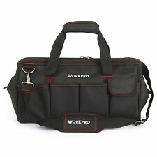 """WORKPRO 18""""Storage Tool Bag Backpack Top Strap Thicken Multifuntional Heavy Duty"""
