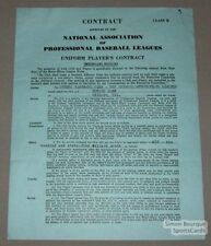 1940 Quebec Athletics Edward Jabb Signed Contract